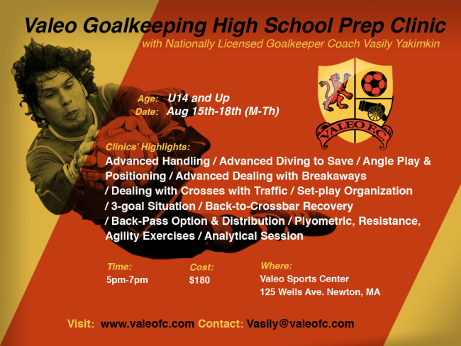 High School Goalkeepers Prep Clinic