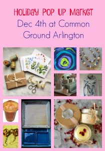 Holiday Pop Up Market Dec 4th at Common Ground Arlington