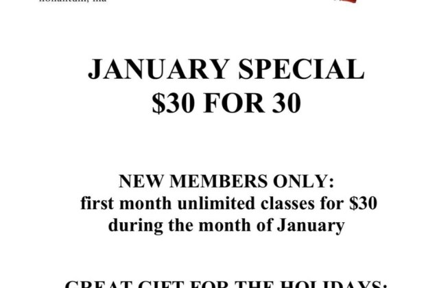 Nonantum Boxing Club 2019 January Fitness Special