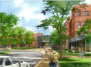Newton North Front Entrance High School