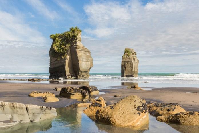 two-column-rocks-on-a-low-tide-beach