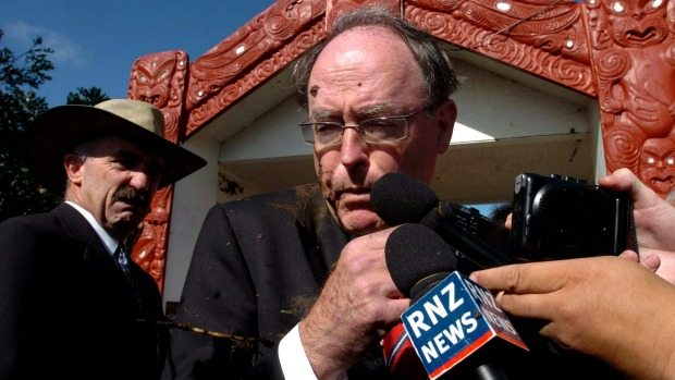 Image: Fotopress - One of my fondest memories of Waitangi Day was when Don Brash got nailed in the face with mud.