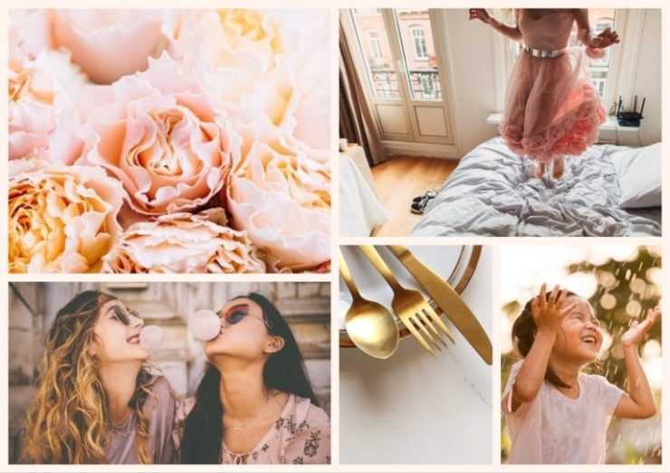 Peaches Soft Girlie Collage