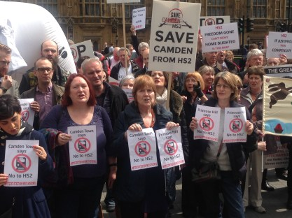 CAMDEN TURNS OUT TO PROTEST IN FORCE