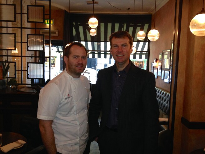 CHEF-PATRON BRYN WILLIAMS AND FRONT OF HOUSE MANAGER DAVID ALLAN