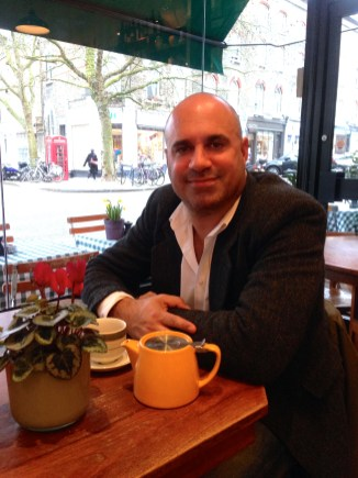 MARC MET UP WITH ME AT PRIMROSE HILL'S GREENBERRY CAFE TO UPDATE ME ON THE PUPAID CAMPAIGN.