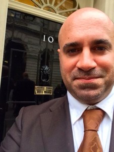 WHO COULD RESIST A SELFIE OUTSIDE NUMBER 10?