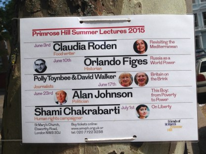 PRIMROSE HILL SUMMER LECTURES