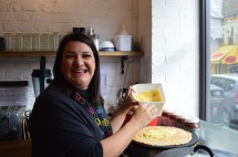 NATALIE ALLEN AT HER CREPE STATION