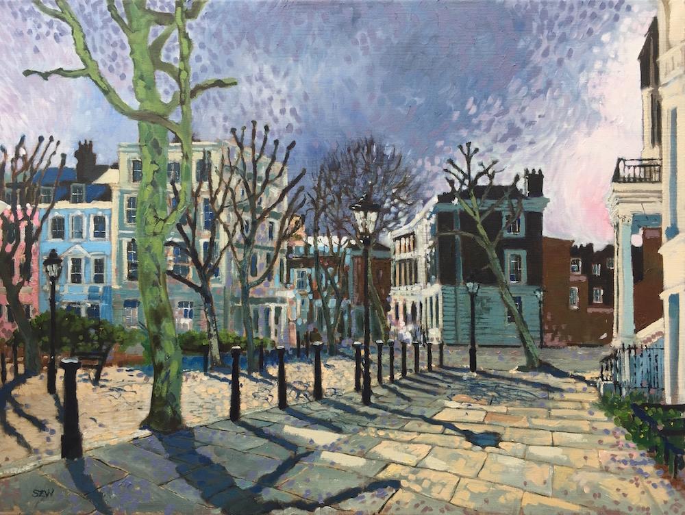 April Showers Primrose Hill by Sarah Wimperis