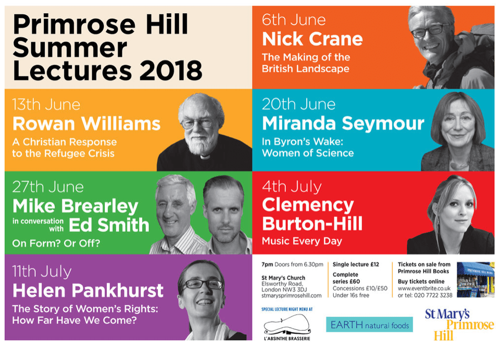 PRIMROSE HILL SUMMER LECTURES 2018