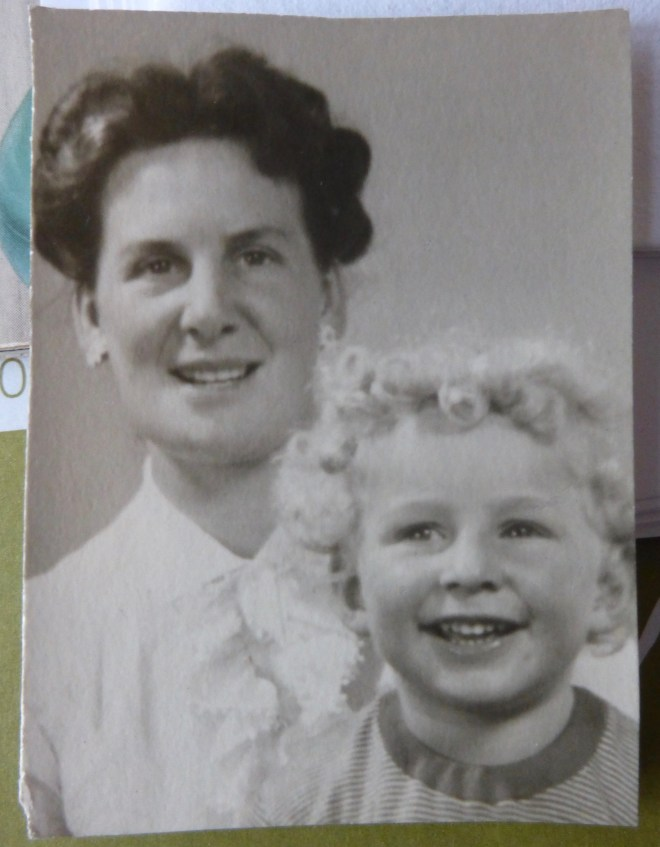 MARTIN SHEPPARD, AGED TWO, WITH HIS MOTHER AUDREY