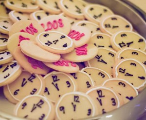 new year's eve themed sugar cookies