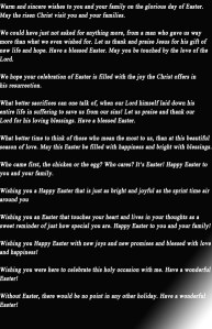 Easter wishes and greeting text messages