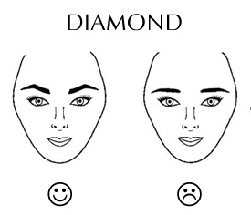 Hairstyle for Diamond Face Shape