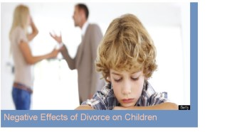The negative effects of divorce on childrens perception