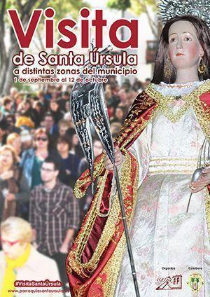 Visita de la imagen de Santa Úrsula a las distintas zonas del municipio.