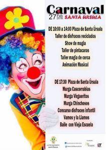 cartel Carnaval Santa Úrsula 2016