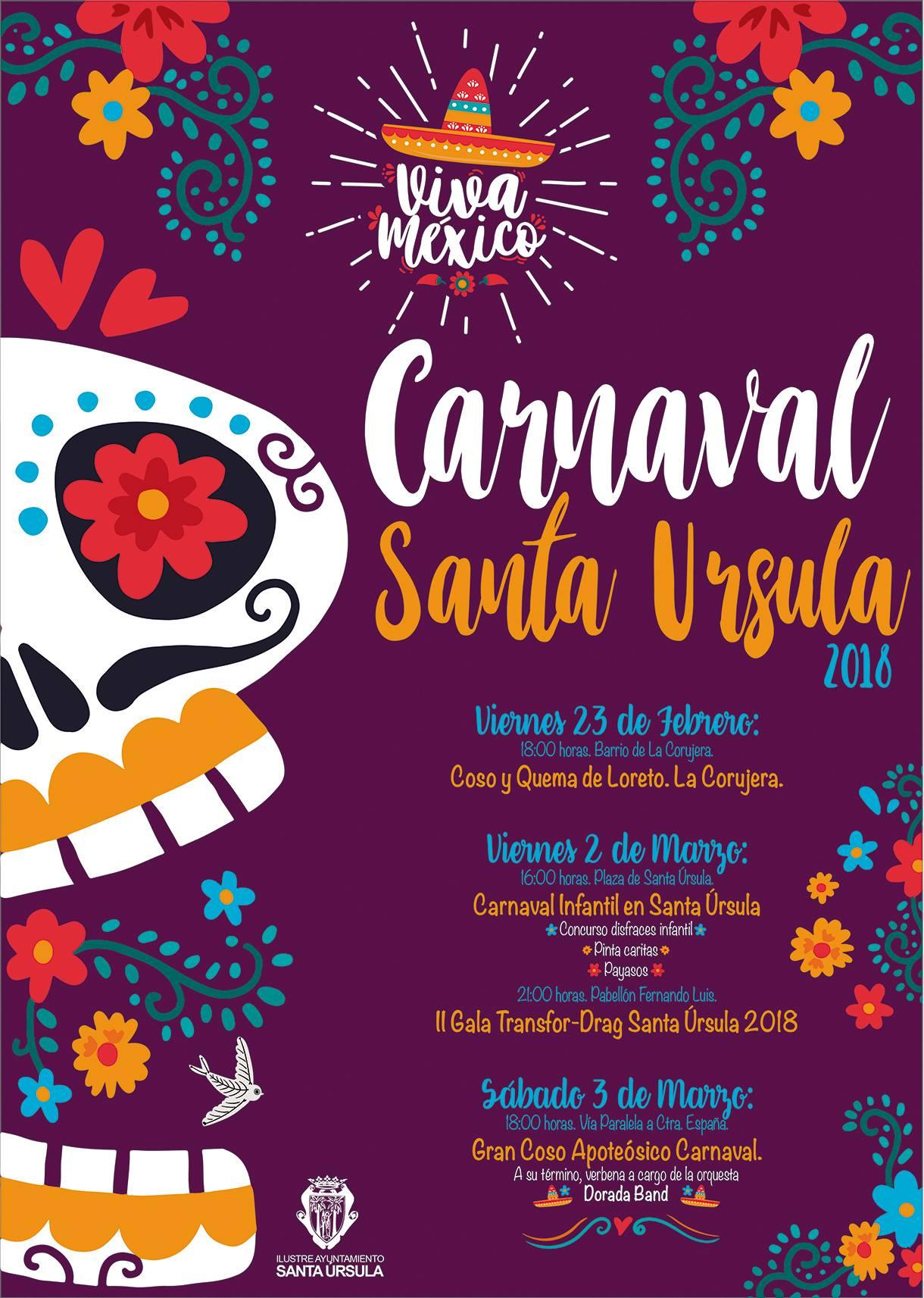 Resultado de imagen de carnaval santa ursula 2018