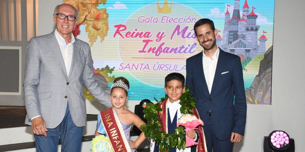 Iris Viera y Marco Antonio, Reina y Mister Infantil de las Fiestas de Santa Úrsula 2018