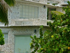 Seashell encrusted house in Florida made with conchs and whelks