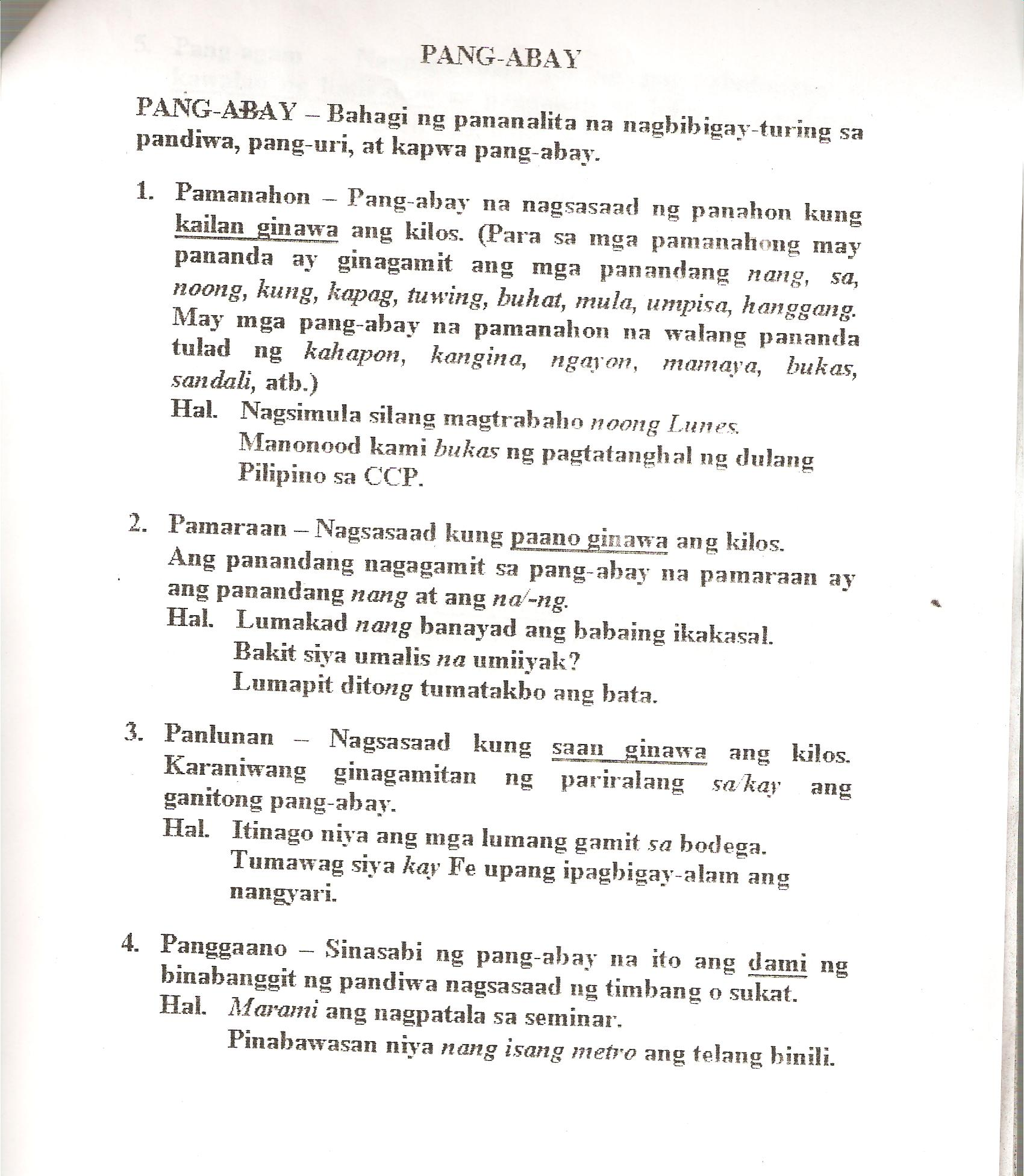 Worksheets In Filipino Grade 1 Pandiwa