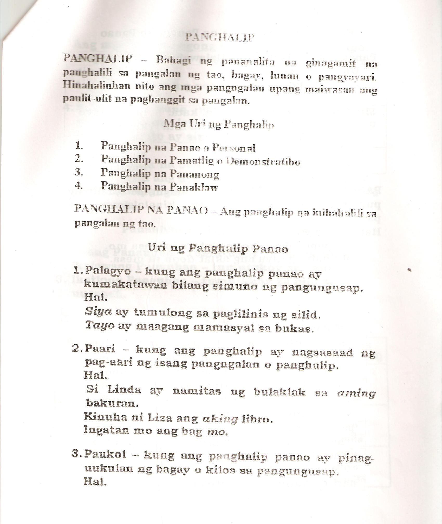 Filipino Part 2 Grammar Handouts