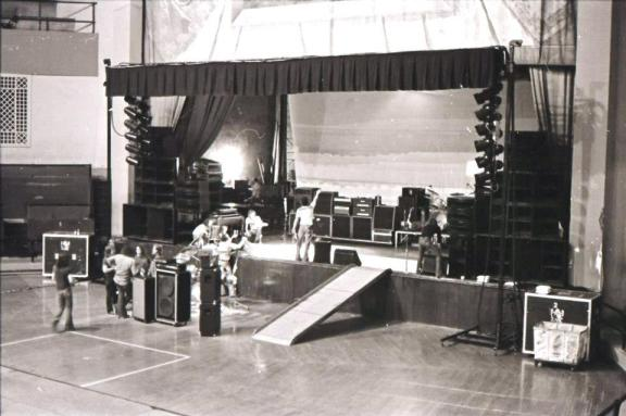 Stage at the City Auditorium in St. Joseph Mo