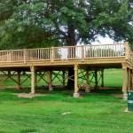 Treehouse going up at St. Joseph's Bartlett park.