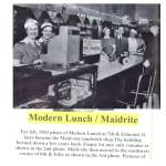 Modern Lunch at 7th & Edmond in 1943. It later became Maid-Rite