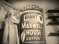 VERY ODD VINTAGE EARLY 1960's MAXWELL HOUSE COFFEE COMMERCIAL
