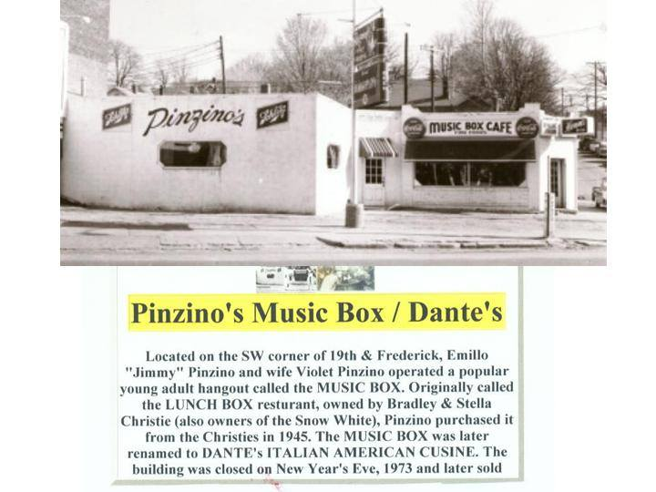 Pinzino's Music Box Cafe on Frederick