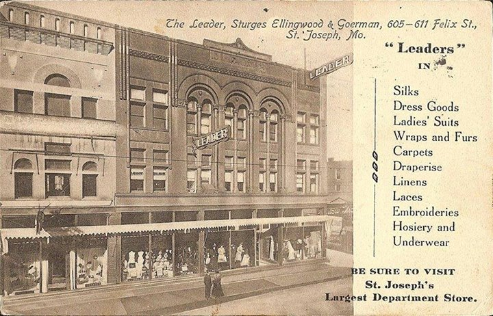 St. Joseph's largest Department store at the time.