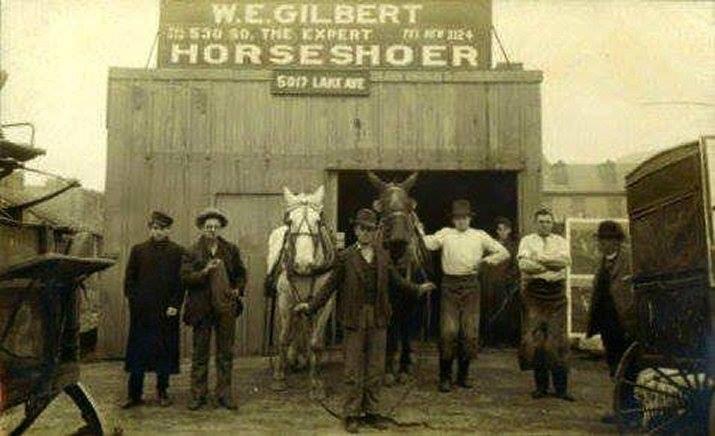 W. E. GILBERT – EXPERT HORSESHOER 5017 Lake Avenue
