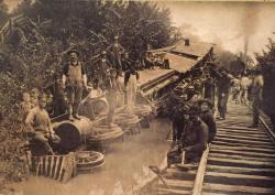 Train wreck in Amazonia, MO