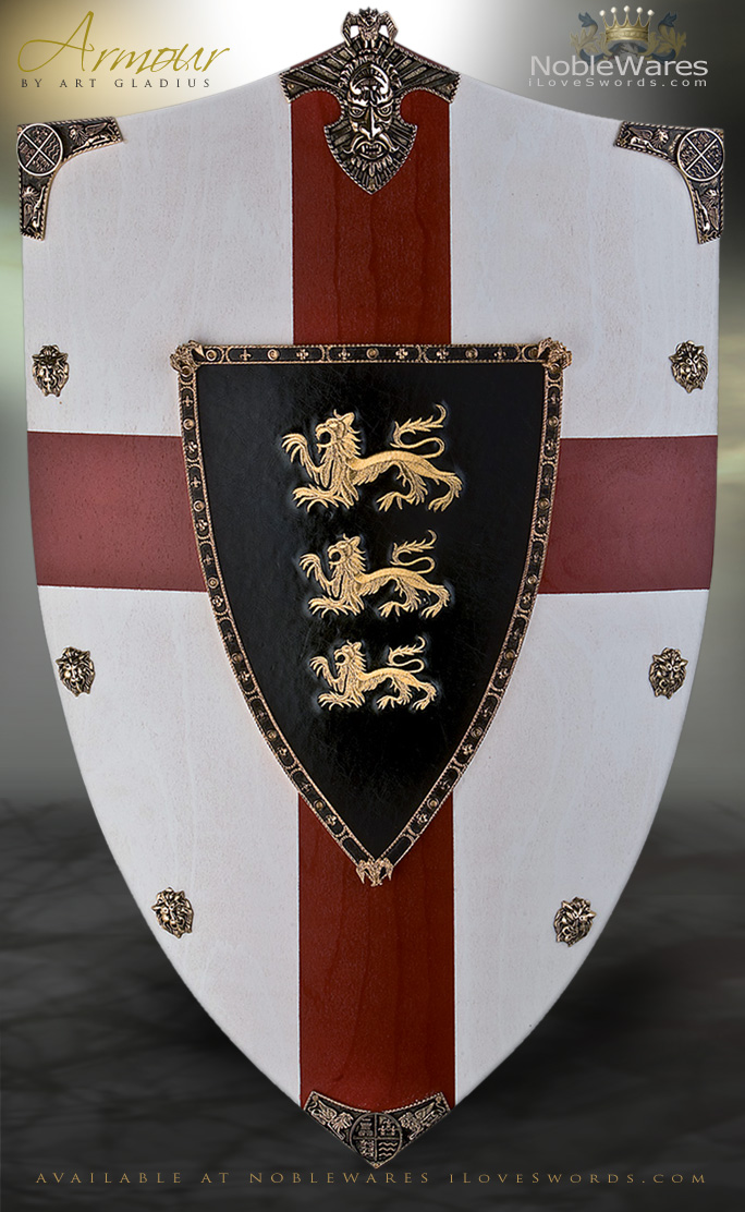 King Richard The Lionheart Wooden Shield Ag872 By Art
