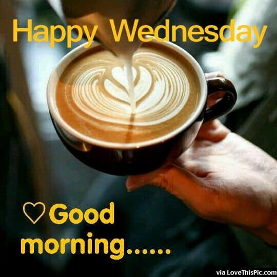 Happy Wednesday Good Morning Quote With Coffee