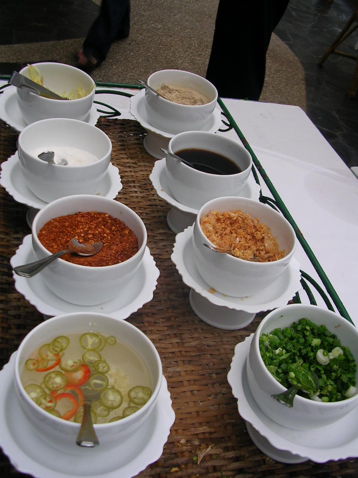 Rice Soup Condiments