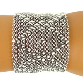 Sergio Gutierrez Liquid Metal Bracelet B10 6.5 7 7.5 8.0 8.5 Inches SG Mesh Cuff