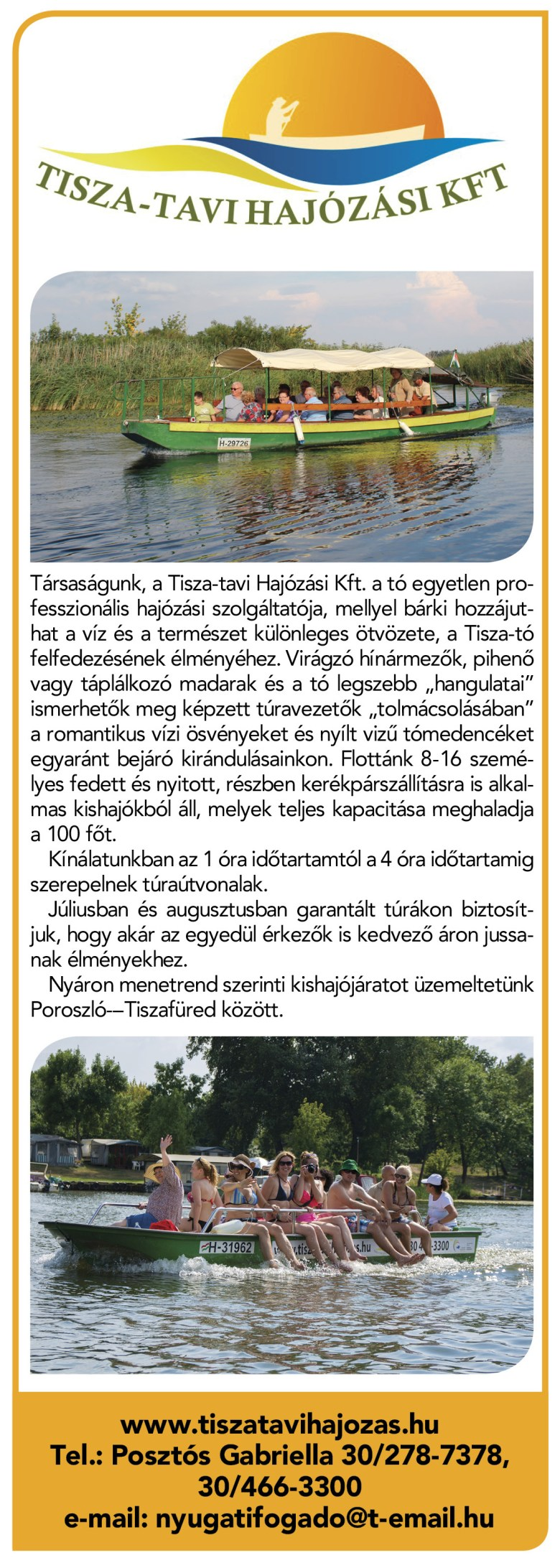 Tisza-tavi hajózás