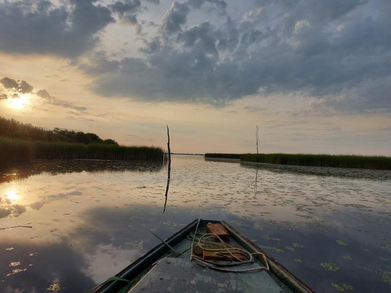 halászi sziget naplemente