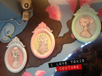 Cuadros i LOve Tokio Couture con ilustraciones del Principe De Las Aceitunas