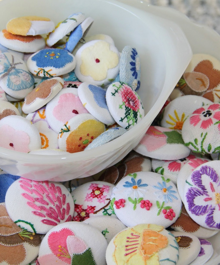 Upcycled Linen Buttons
