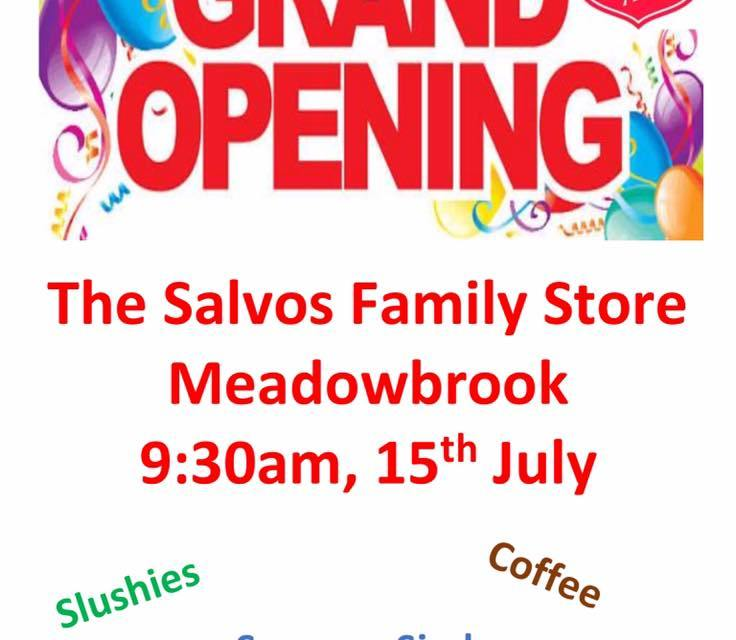Salvos Family Store Meadowbrook Opening!