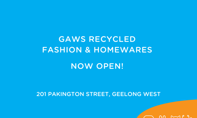 GAWS Recycled Fashion and Homewares Store Now Open