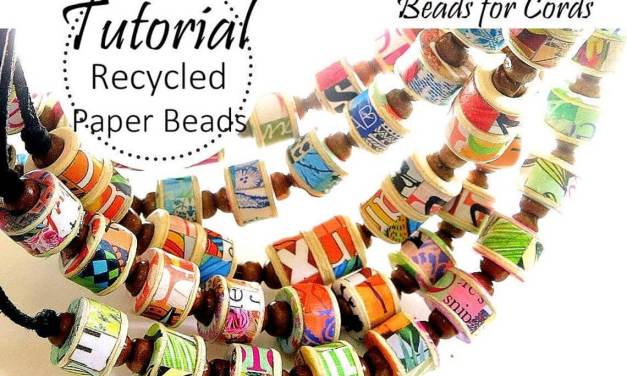 Recycled Paper Jewellery Tutorial