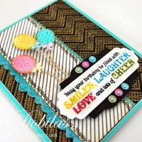 JustRite Papercrafts:  Cupcake Wishes and Large Birthday Sentiments