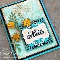 Cheery Lynn Designs:  Hello Textured card
