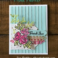 Stampin Up Petal Palette Thank You Card