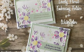 Lovely Floral Watercolor Card Video Tutorial